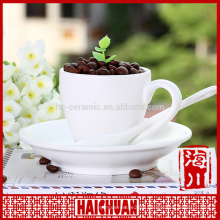 7.5 inch white porcelain soup cup with saucer