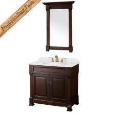 Деревянный шкаф для ванной комнаты