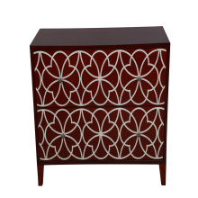 CANOSA 2016 Hand carved Chinese fresh water shell inlaid wood Storage Cabinet living room furniture