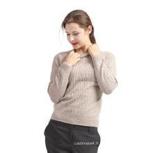 Pull en laine jaune de qualité OEM de vente chaude