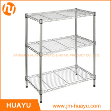500*300*700 mm 3-Tier Adjustable Wire Shelving Metal Display Stand Storage Rack