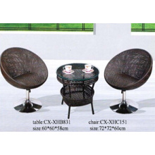 2016 Hot Sale Rattan Set, Rattan Table and Chair, Our Door Rattan Furniture