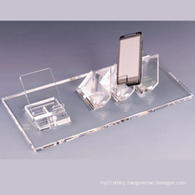Clear Acrylic Cell Phone Display Holder Retail Store Exhibition Stand