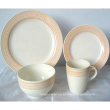 Hand Painting Edge Ceramic Dinner Set