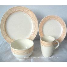 Hand Painting Edge Ceramic Dinner Set