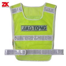Yellow Mesh Led light reflective vest