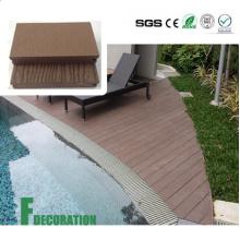Placa de plataforma plástica de madeira exterior impermeável do composto WPC dos materiais de construção