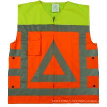 Vêtements de sécurité réfléchissants haute visibilité à la mode avec tissu 120GSM