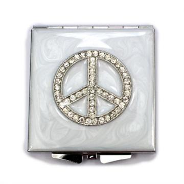 Espelhos compactos de paz