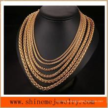 Moda de acero de titanio cesta de la flor de la cadena de fósforo colgante collar de cadena (SSNL2620)