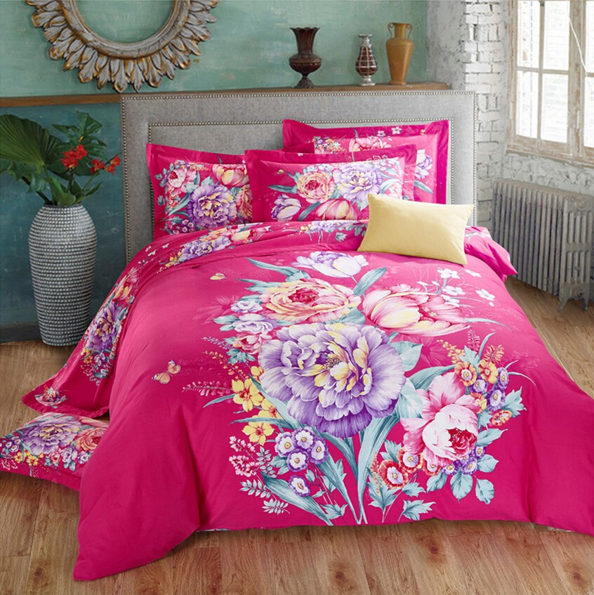Plain Printed Bedding Set