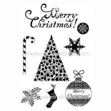 2015 hangzhou yiwu hot wholesale Christmas set clear stamp for scrapbooking