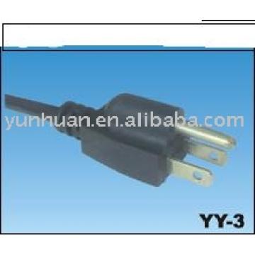 Homologué UL fil électrique d'alimentation câbles USA cordon type Nema
