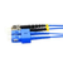 Cabo de remendo da fibra óptica ao ar livre do núcleo 4 / cabo de remendo da fibra óptica 12 do núcleo blindado com SC, LC, ST, conectores do FC