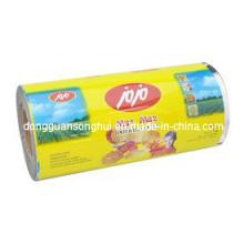 Película de embalaje laminada / Película de la galleta / Película de embalaje de las virutas