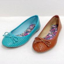 2014 mode vente chaude jolie douce semelle chaussures plates femme