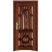 Entrada de acero puerta blindada de madera