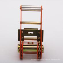 1.5 inch high quality orange spraying plastics ratchet buckle/tie down