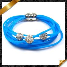 Crystal Clay Beads Bracelets, Wholesale Jewelry Silicone Bracelet (FB083)