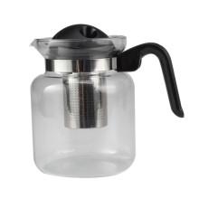 Filtro removível de bule de chá de vidro