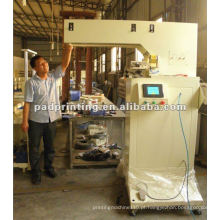 Máquina automática de impressora de almofada de cor única para máquina de moldagem por injeção