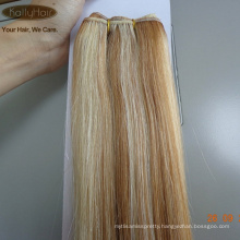 Wholsale Price Russian Piano Color Blonde Lightest Brown Double Drawn Silk Straight Weaving Cheap Human Hair Extensions 100g/pc