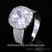gros costume bijoux grand blanc et rond zircon cubique de noël