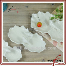 fashion shape & ceramic leaf shape plate