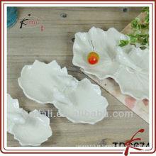 Forma da forma & placa cerâmica da forma da folha