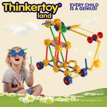 Construção de brinquedos de plástico para crianças
