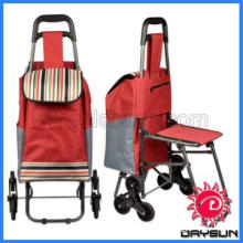 Stair Climbing Rolling Shopping Grocery Laundry Utility Cart bag