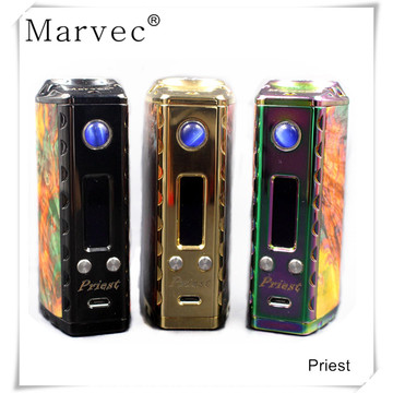 26650 18650 Stabilized Wood TC Box Mod vape