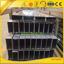 Tuyauterie rectangulaire en aluminium de mur rideau de Customzied avec des extrusions en aluminium