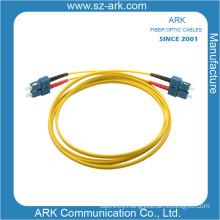 Sc-Sc Singlemode Duplex Fiber Optical Patchcord with Yellow Jacket