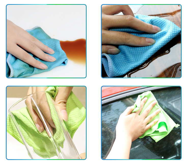 The Usage of Fish Scale Shape Microfiber Towels