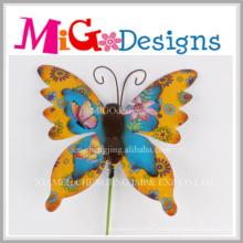 Decoração agradável da parede do metal da borboleta para a decoração