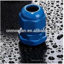 Connecteur en nylon bleu de gaines de câble de PG16 avec UL94-V2 disponible dans diverses tailles