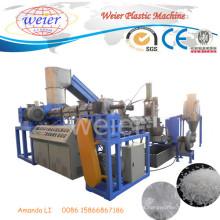 Película plástica Waste do desperdício do ISO do GV do CE do filme do HDPE dos PP do PE que recicla a extrusora da peletização