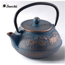 Bouilloire à thé en émail en fonte avec infuseur