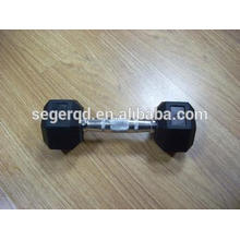 HEX dumbbells with black or color rubber coated