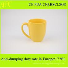 Unicolor de gres de cerámica en blanco tazas de café