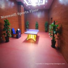 Plancher de sports d'intérieur de PVC pour des cours de tennis de table