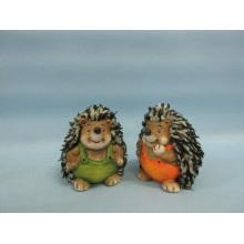 Hedgehog forma de artesanato de cerâmica (LOE2537-C7.5)
