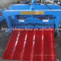 Hoja de techo de azulejos esmaltados que forma la máquina