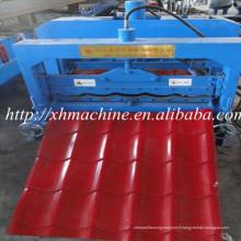 Rouleau de feuille de toit tuiles vernissées formant la Machine