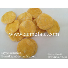 korean fried round rice cracker