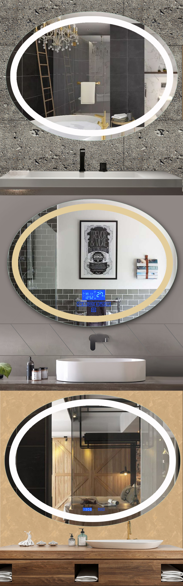 Bathroom Mirror With LightsofApplication Mirror With Light Bulbs Around It