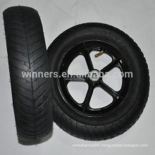 High quality 12.5 x 3 pneumatic plastic wide wheel
