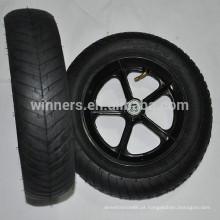 Alta qualidade 12.5 x 3 roda larga de plástico pneumático