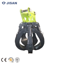 kobelco 27tons excavator hydraulic scrap grapple excavator scrap grab hydraulic orange peel grab grapple rotational grab